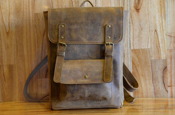 Hoi An Real Leather - Da Bao Real Leather Hoi An - Brown Vintage Backpack