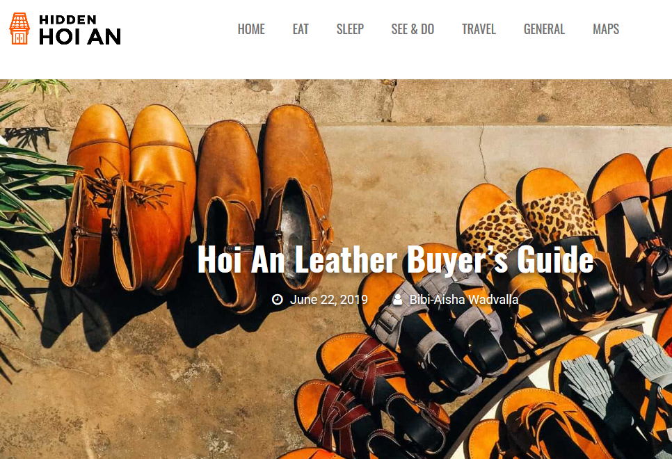 Hidden Hoi An Article about Hoi An Real Leather